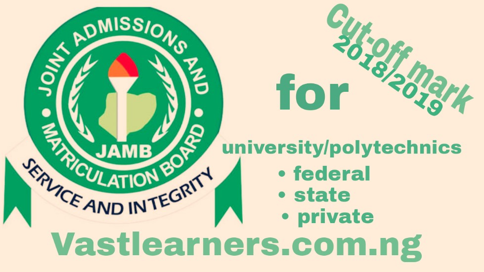 jamb cut off mark for all university